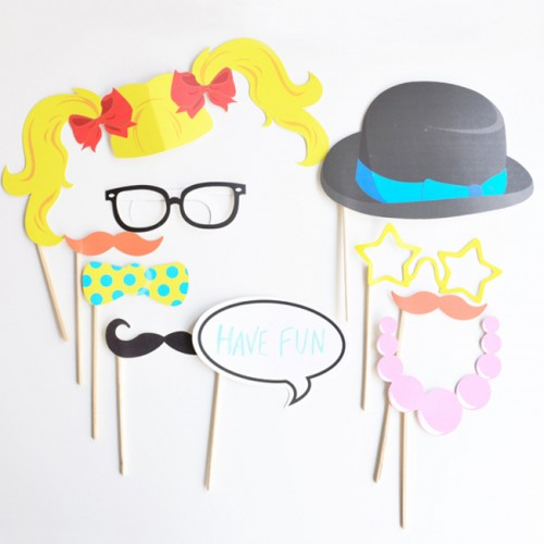Photo Booth Girly Kit-10 party props-Ginger Ray