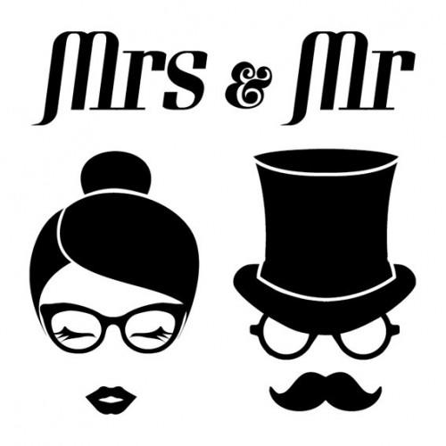 Σφραγίδα Ξύλινη Mrs & Mr Figures