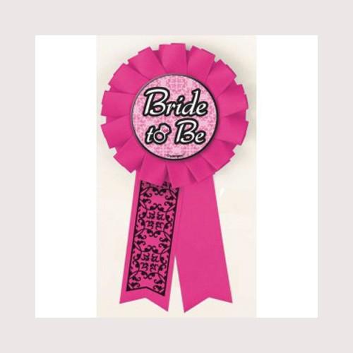 """Bride To Be"" Award Ribbon-Bachelorette By Unique"