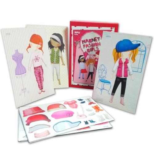 Κορίτσια Στη Μόδα- Δημιουργικό Παιχνίδι Με Μαγνητικές Φιγούρες
