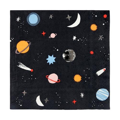 Χαρτοπετσέτες Φαγητού Διάστημα - Space Napkins Meri Meri