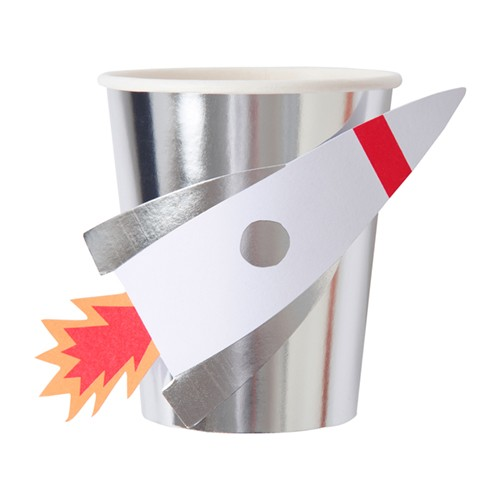 Χάρτινα Ποτήρια Πύραυλος Στο Διάστημα - Rocket Cups Meri Meri