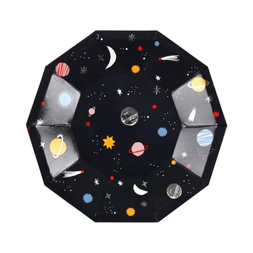 Στρογγυλά Πιάτα Γλυκού Διάστημα - Space Plates Meri Meri
