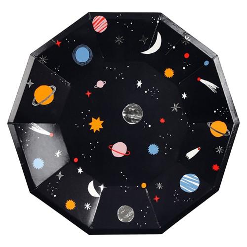 Στρογγυλά Πιάτα Φαγητού Διάστημα - Space Plates Meri Meri