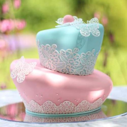 "Cake Lace - Καλούπι Δαντέλας ""Beautiful Butterflies"" (38x26cm)"
