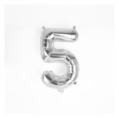 Μπαλόνι Ασημένιο Νούμερο 5 (16'')