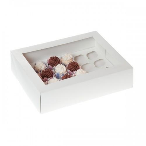 Λευκό Κουτί Cupcake/Muffin 24 θέσεων