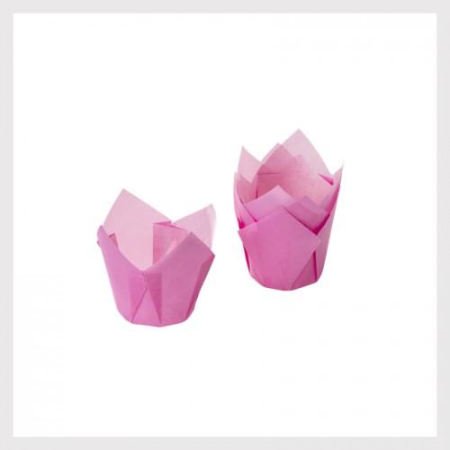 Καραμελόχαρτα Φούξια -Σχήμα Τουλίπας (24-Pack)