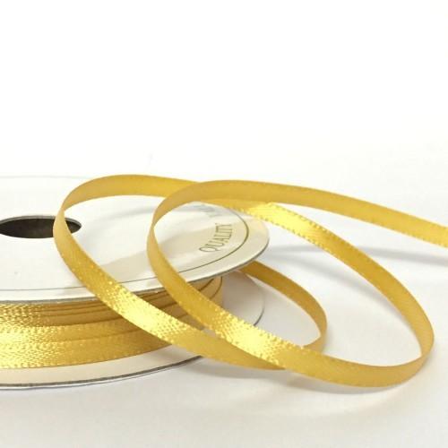 Κορδέλα χρυσή σατέν διπλής όψης (3mm)