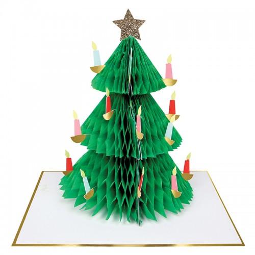 Honeycomb Χριστουγεννιάτικο Δέντρο Ευχετήρια Κάρτα