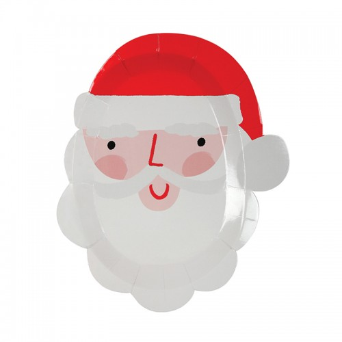 Χάρτινα Πιάτα Άγιος Βασίλης 12pcs - Meri Meri