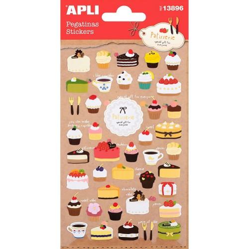 Παιδικά Αυτοκόλλητα Cupcakes Και Γλυκά Για Συσκευασίες Και Δώρα Πάρτυ