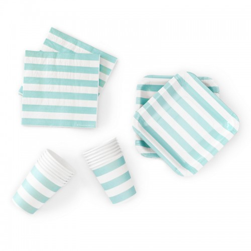 abcJoy γαλάζιες ριγέ χαρτοπετσέτες (20-pack)