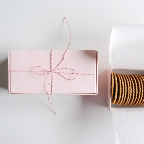 Σπάγγος Χάρτινος σε Χρώμα Λευκό-Ροζ (50m)