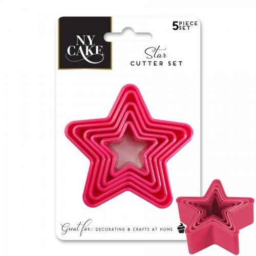 Σετ Πλαστικά Κουπ πατ Αστέρια Star Shape Cookie Cutters N.Y. Cake