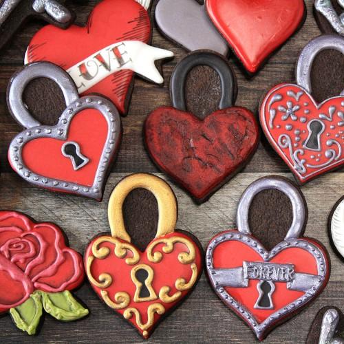 Κουπ πατ Κλειδαριά Σε Σχήμα Καρδιάς