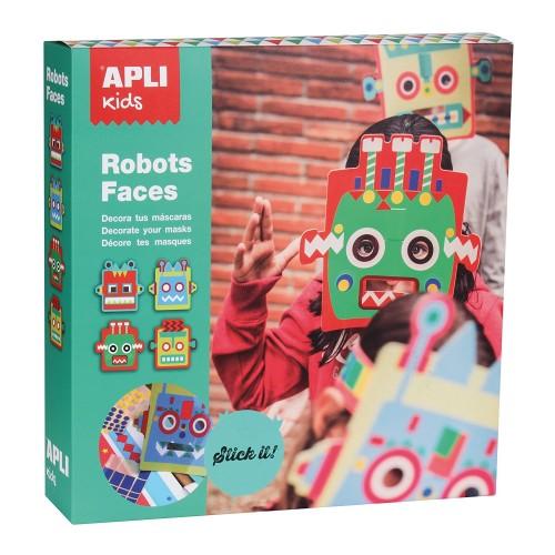 Παιδικές Μάσκες Ρομπότ - Κατασκευές Με Αυτοκόλλητα