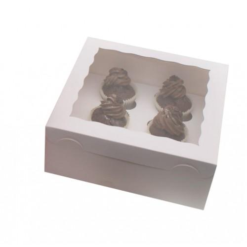 Λευκό Κουτί Cupcake/Muffin 6 θέσεων