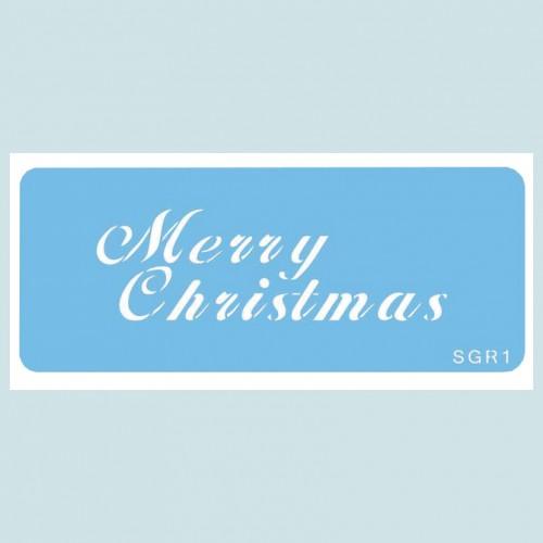Merry Christmas Stencil-Στένσιλ Καλά Χριστούγεννα