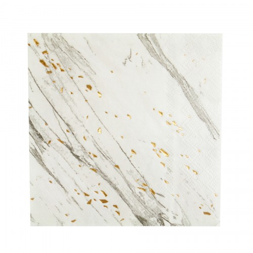 Χαρτοπετσέτες Γλυκού Σε Λευκό Μάρμαρο Και Χρυσό - Blanc By Harlow & Grey