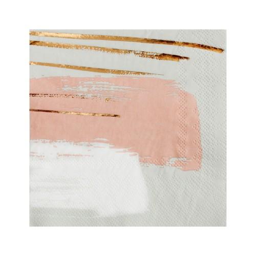 Χαρτοπετσέτες Γλυκού Σε Γκρι Παστέλ, Ροζ Και Χρυσό Wander By Harlow & Grey