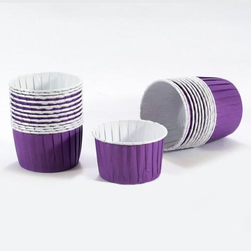 Culpitt Σαγρέ Θήκες Μωβ 24 Purple Baking Cups