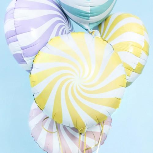 Μεταλλικό Μπαλόνι Κίτρινη Παστέλ Καραμέλα