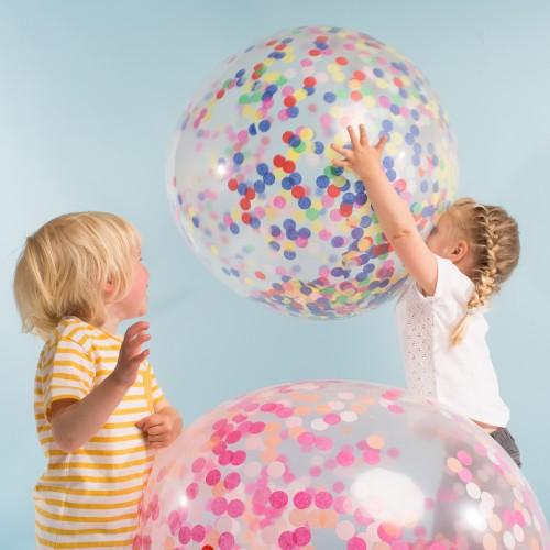 Γιγάντια Μπαλόνια με Πολύχρωμο Κομφετί NEON 3pcs - Meri Meri