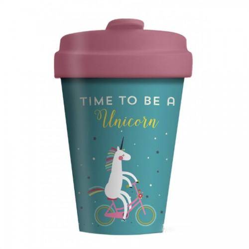 Bamboo Cup Time For Unicorns - Οικολογικά Ποτήρια Για Ζεστά Ροφήματα