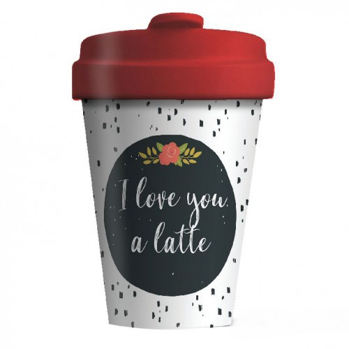 Bamboo Cup Love You Latte - Οικολογικά Ποτήρια Για Ζεστά Ροφήματα