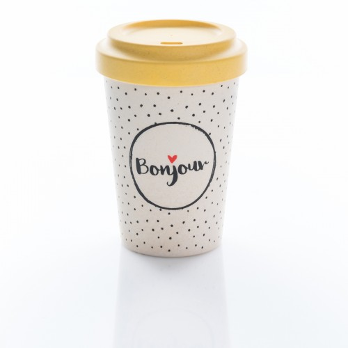 Bamboo Cup Bonjour - Οικολογικά Ποτήρια Για Ζεστά Ροφήματα
