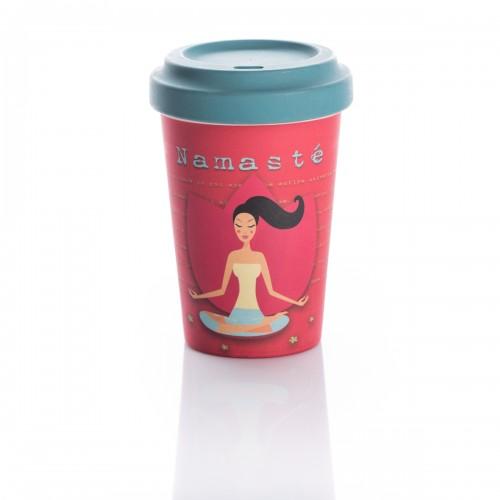 Bamboo Cup Yoga Love - Οικολογικά Ποτήρια Για Ζεστά Ροφήματα