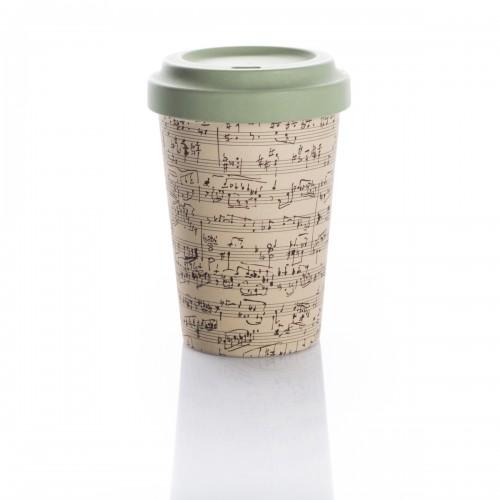 Bamboo Cup Music Notes - Οικολογικά Ποτήρια Για Ζεστά Ροφήματα
