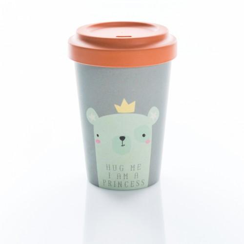 Bamboo Cup Hug Your Princess - Οικολογικά Ποτήρια Για Ζεστά Ροφήματα