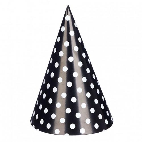 abcJoy μαύρα chevron χάρτινα καπέλα (6-pack)