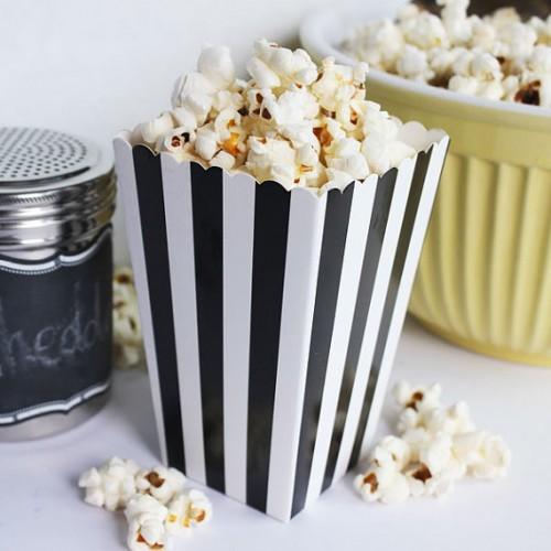 abcJoy ριγέ μαύρα popcorn boxes (12-pack)