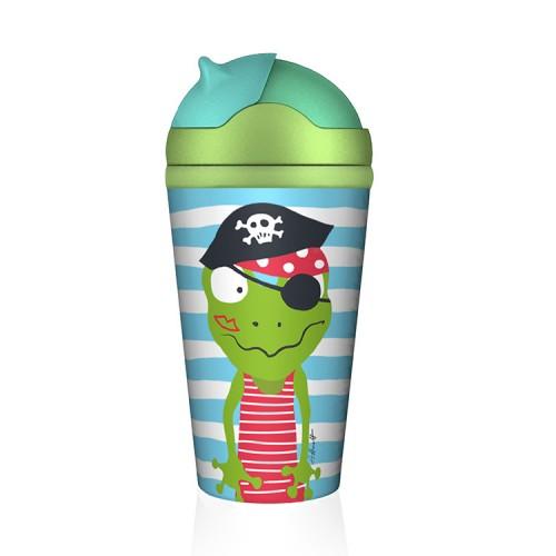 Bamboo Bottle Piratenschatz Quaky - Οικολογικό Παγούρι Βάτραχος Πειρατής
