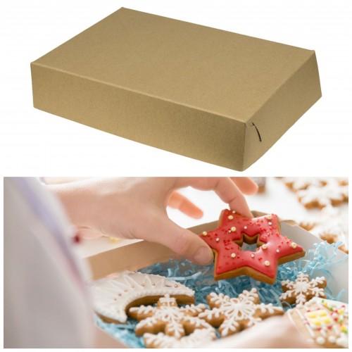 Κραφτ Κουτί Για Μπισκότα Και Γλυκά