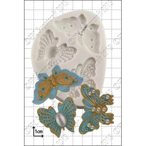 Καλούπι Σιλικόνης της FPC-Κεντητές Πεταλούδες (Filigree Butterflies)