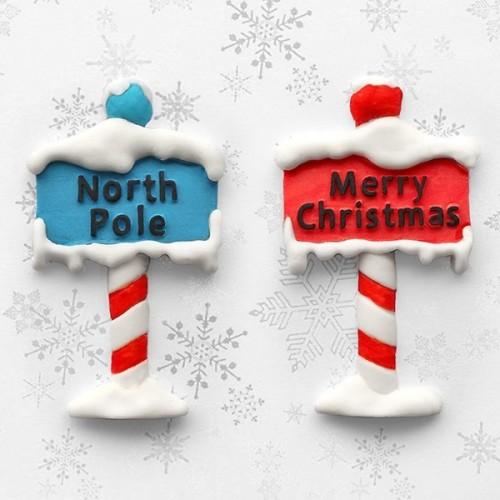Καλούπι Σιλικόνης Χριστουγεννιάτικες Ταμπέλες Βόρειος Πόλος της Katy Sue