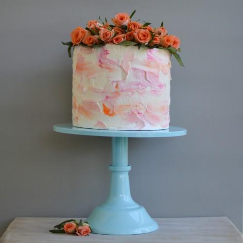 Γαλάζιο Μεταλλικό Cake Stand