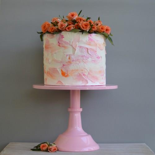 Ροζ Μεταλλικό Cake Stand