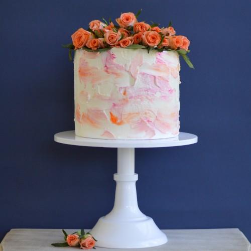 Λευκό Μεταλλικό Cake Stand