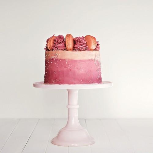 Ροζ Κεραμικό Cake Stand-Miss Etoile