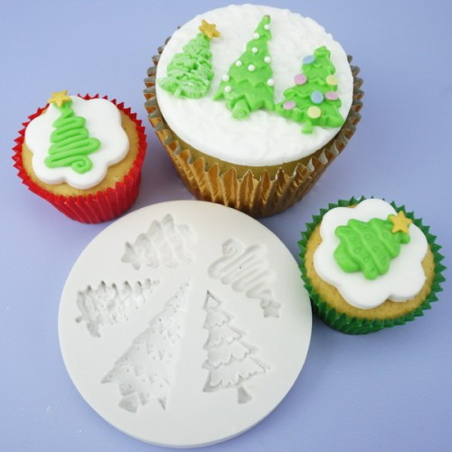 Καλούπι Σιλικόνης Χριστουγεννιάτικα Δέντρα