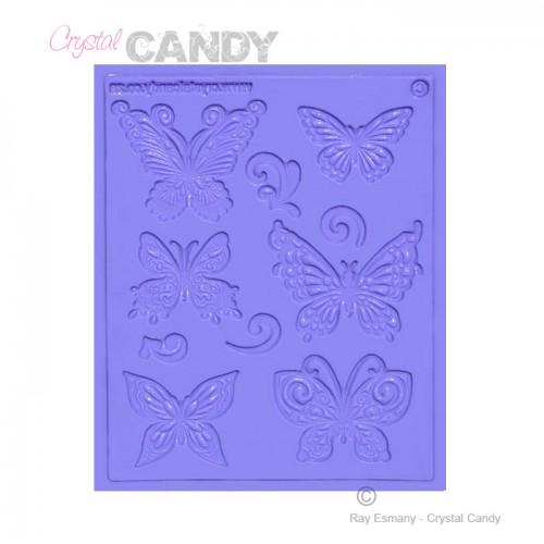 Πεταλούδες-MultiArt Καλούπι Δαντέλας Crystal Candy