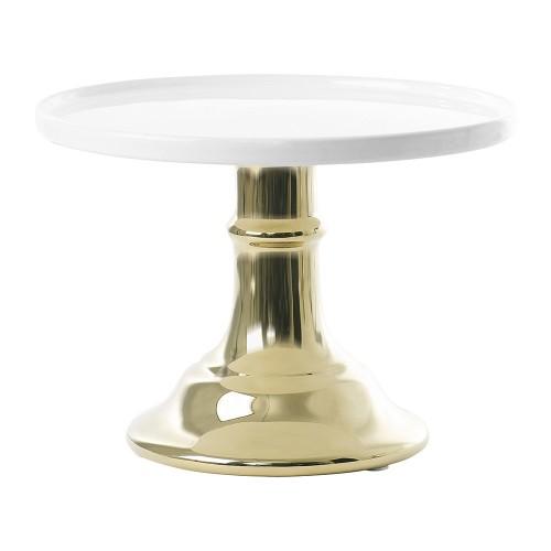 Χρυσό Με Λευκό Κεραμικό Cake Stand-Miss Etoile