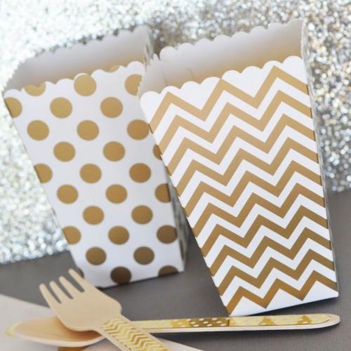 abcJoy chevron χρυσά popcorn boxes (12-pack)