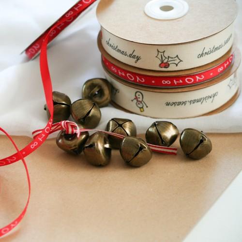 Jingle Bells Bronze Gold - Μπρονζέ Κουδουνάκια Διακόσμησης (10pcs)