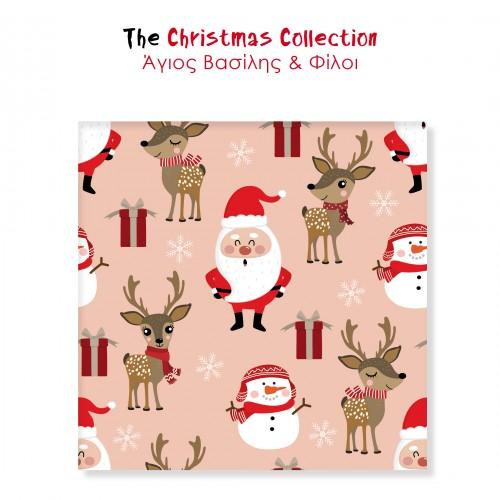 Αυτοκόλλητα Για Συσκευασίες Άγιος Βασίλης Και Φίλοι The Christmas Collection